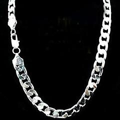 12ミリメートル20インチのない空の男性の銀のネックレスをメッキ
