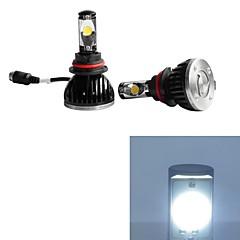 cheap Car LED Lights-2pcs 9004 Car Light Bulbs 30W 2200-5200lm 2 Working Light / Fog Light