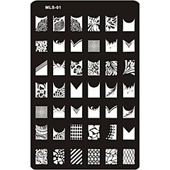 nydelig Neglekunst stempling bilde plate Neglekunst mal spiker sjablong no.1