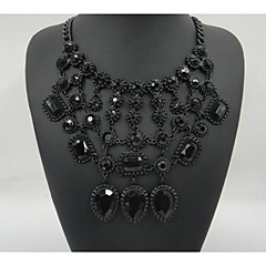 Shinning Necklace Vintage Flower Necklaces & Pendants Crystal Choker Statement Necklace