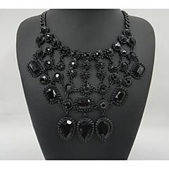 brilhando colar vintage colares de flores&pingentes de cristal declaração gargantilha colar