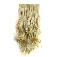 preiswerte Synthetische Haarverlängerungen-Synthetik Haar-Verlängerung Klassisch Locken Clip In/On Klassisch Locken Alltag Gute Qualität