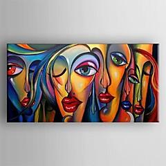 billiga Oljemålningar-Hang målad oljemålning HANDMÅLAD - Abstrakt Klassisk / Traditionell Inkludera innerram / Sträckt kanfas