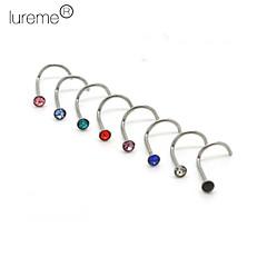piercing smykker unisex nese piercing nesen ringer& studs kroppen smykker (tilfeldig farge)