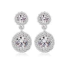 cheap Earrings-Women's Cubic Zirconia Cubic Zirconia Round Jewelry Costume Jewelry