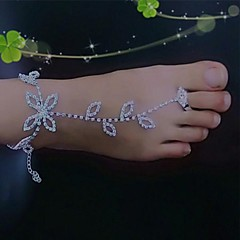 billiga Brudskor-Metall Barefoot Sandals Dam Bröllop Semester Silver
