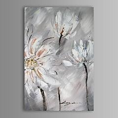 Hånd-malede Abstrakt Blomstret/Botanisk Et Panel Kanvas Hang-Painted Oliemaleri For Hjem Dekoration