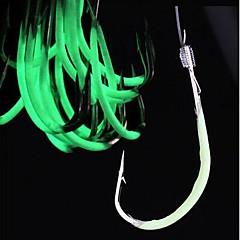 Vishaken Vissen-60 pcs Licht Groen Koolstofstaal