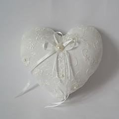 travesseiro anel de casamento elegante com faixa azul& pérolas