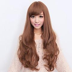tanie Peruki syntetyczne-Kobieta Peruki syntetyczne Golden Brown Z grzywką Costume Wig Costume Peruki