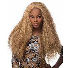 cheap Wigs & Hair Pieces-Synthetic Wig Curly Blonde Middle Part Synthetic Hair Fashionable Design / Cosplay Blonde Wig Women's Long Machine Made