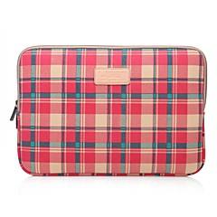 billiga Laptop Bags-Lisen 10 '' 11 '' 12 '' röda plädmönster skyddshylsa bärbar datorväska
