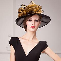 hesapli -organza Çiçek  -  Şapkalar Başlık 1pc Düğün Özel Anlar Günlük Ofis ve Kariyer Dış mekan Başlık