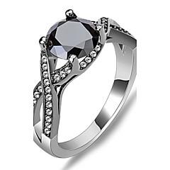 billige Motering-Dame Syntetisk safir Statement Ring - Zirkonium 6 / 7 / 8 Svart Til Bryllup / Fest / Daglig / Diamant