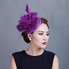Femei Fata cu Flori Pană Tul Diadema-Nuntă Ocazie specială Informal Exterior Pălărioare Flori