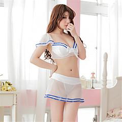billige Moteundertøy-Dame Super Sexy Ultrasexy / Uniformer og kinesiske kjoler / Dress Nattøy - Stripet, Netting