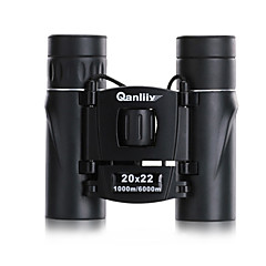 Qanliiy 20X22 Binoculars High Definition Waterproof Carrying Case Spotting Scope Night Vision Generic BAK4 Fully Multi-coated 167m/1000m
