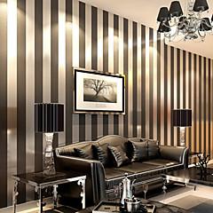 billige Tapet-Stribe Hjem Dekor Moderne Tapetsering, Ikke vævet papir Materiale selvklebende nødvendig bakgrunns, Tapet