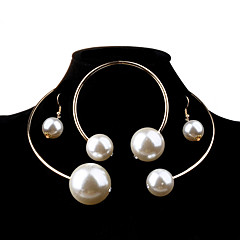 Women's Jewelry Set Fashion Elegant Bridal Oversized Wedding Party Birthday Engagement Gift Daily Casual Pearl Imitation Pearl Alloy Ball