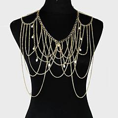 cheap Body Jewelry-Women's Body Jewelry Body Chain Alloy Unique Design Fashion Jewelry Gold Jewelry Party 1pc
