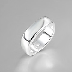 Fashion Luxury Simple Square Sterling Silver Band Ring For Women