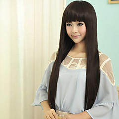 cheap Wigs & Hair Pieces-Synthetic Wig Straight Synthetic Hair Wig Capless Black Black