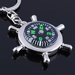 unisex metalliseos rento avaimenperä luova kompassi avaimenperiä