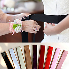 cheap Party Sashes-Polyester/Cotton Satin Wedding Special Occasion Party / Evening Sash Women's Sashes