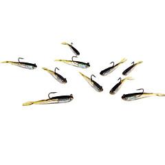 billiga Fiskbeten och flugor-5 st Mjukt bete Fiskbete mjuka Jerkbaits shad Mjukt bete Mjuk plast Bly Silikon Sjöfiske Färskvatten Fiske Drag-fiske Abborr-fiske