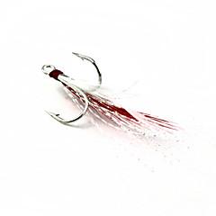 Fiskekroke Fiske-1 stk Hvit Rød Myk Plastikk Metall-N/ASøfisking Agn Kasting Ferskvannsfiskere Lokke Fiske Generelt fisking Trolling- &