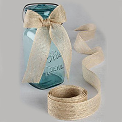 cheap Wedding Ribbons-Solid Color Jute Wedding Ribbons - 5M Piece/Set Weaving Ribbon Gift Bow Decorate favor holder Decorate gift box Decorate wedding scene