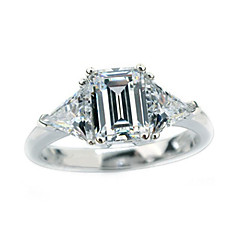 cheap Rings-Women's Band Ring Silver Sterling Silver Rhinestone Fashion Wedding Costume Jewelry