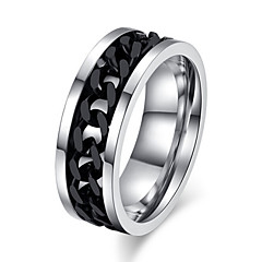 cheap Men's Rings-Men's Statement Ring - Titanium Steel Love Jewelry Silver / Black For Wedding Party Gift Daily Casual Sports 7 / 8 / 9 / 10 / 11