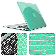 einfarbig neuesten Kristallganzkörper-Fall mit Tastatur Abdeckung für MacBook Air 11,6 Zoll (verschiedene Farben)