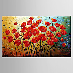 Hånd-malede Landskab / Still Life / Blomstret/BotaniskModerne Et Panel Canvas Hang-Painted Oliemaleri For Hjem Dekoration