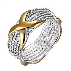 cheap Rings-Women's Unisex Ring Statement Rings Band Rings European Sterling Silver Circle Geometric Jewelry For Daily