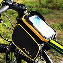 זול תיקי אופניים-CoolChange אביזרים לתיקי גב רכיבה על אופניים תרמיל תיקים למסגרת האופניים טלפון נייד תיק 6.2 אינץ ' מוגן מגשם מסך מגע רצועות מחזירי אור