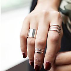 Χαμηλού Κόστους Ring Set-Γυναικεία Σετ Κοσμημάτων Δαχτυλίδι για τη μέση των δαχτύλων - Κράμα Εξατομικευόμενο, Μοντέρνα Ρυθμιζόμενο Ασημί / Χρυσαφί Για Πάρτι Καθημερινά Causal
