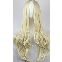 cheap Wigs & Hair Pieces-Synthetic Wig Women's Wavy Blonde Synthetic Hair Blonde Wig Capless Blonde