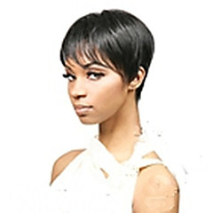 cheap Wigs & Hair Pieces-Synthetic Wig Women's Straight Synthetic Hair Wig Short Capless Black Natural Black hairjoy
