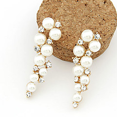 Women's Drop Earrings Costume Jewelry Pearl Imitation Pearl Rhinestone Imitation Diamond Alloy Jewelry For