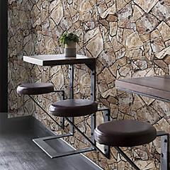billige Tapet-Geometrisk Bakgrunn Retro Rød Tapetsering , PVC/Vinyl Materiale selvklebende nødvendig bakgrunns , Room wallcovering