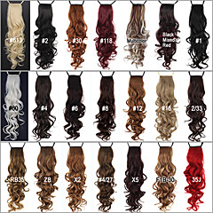 cheap Hair Pieces-24 inch Hair Extension Curly Classic Daily High Quality Ponytails