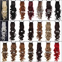 voordelige Haar Stukken-61.0 cm Haarextensies Gekruld Klassiek Dagelijks Hoge kwaliteit Paardenstaart