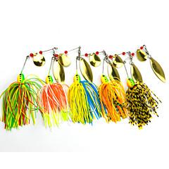 """billiga Fiskbeten och flugor-5 st Spinner bete Fiskbete Spinnfluga g / Uns mm / 2-3/4"""" tum, Hårt Plast Silikon Metall Sjöfiske Färskvatten Fiske"""