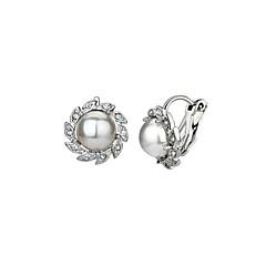 お買い得  イヤリング-女性用 人造真珠 - フラワー 合金 用途