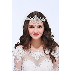 cheap Party Headpieces-Sterling Silver Alloy Tiaras Headpiece Classical Feminine Style