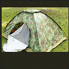 2 personer Telt Dobbelt camping Tent Ett Rom Familietelt Hold Varm Fukt-sikker Vanntett Vindtett Ultraviolet Motstandsdyktig Regn-sikker