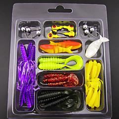 billiga Fiskbeten och flugor-1 st Mjukt bete Fiskbete Pimplar Lock förpackningar Mjukt bete Mjuk plast Bly Sjöfiske Kastfiske Spinnfiske Jiggfiske Trolling & Båt