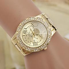 yoonheel בגדי ריקוד נשים יהלוםSimulated שעון שעוני אופנה קווארץ שְׁוֵיצָרִי מעצב חיקוי יהלום מתכת להקה זהב